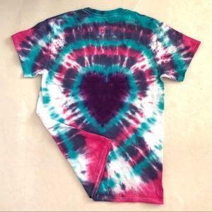 Heart Design Tie Dye Shirt Custom Made